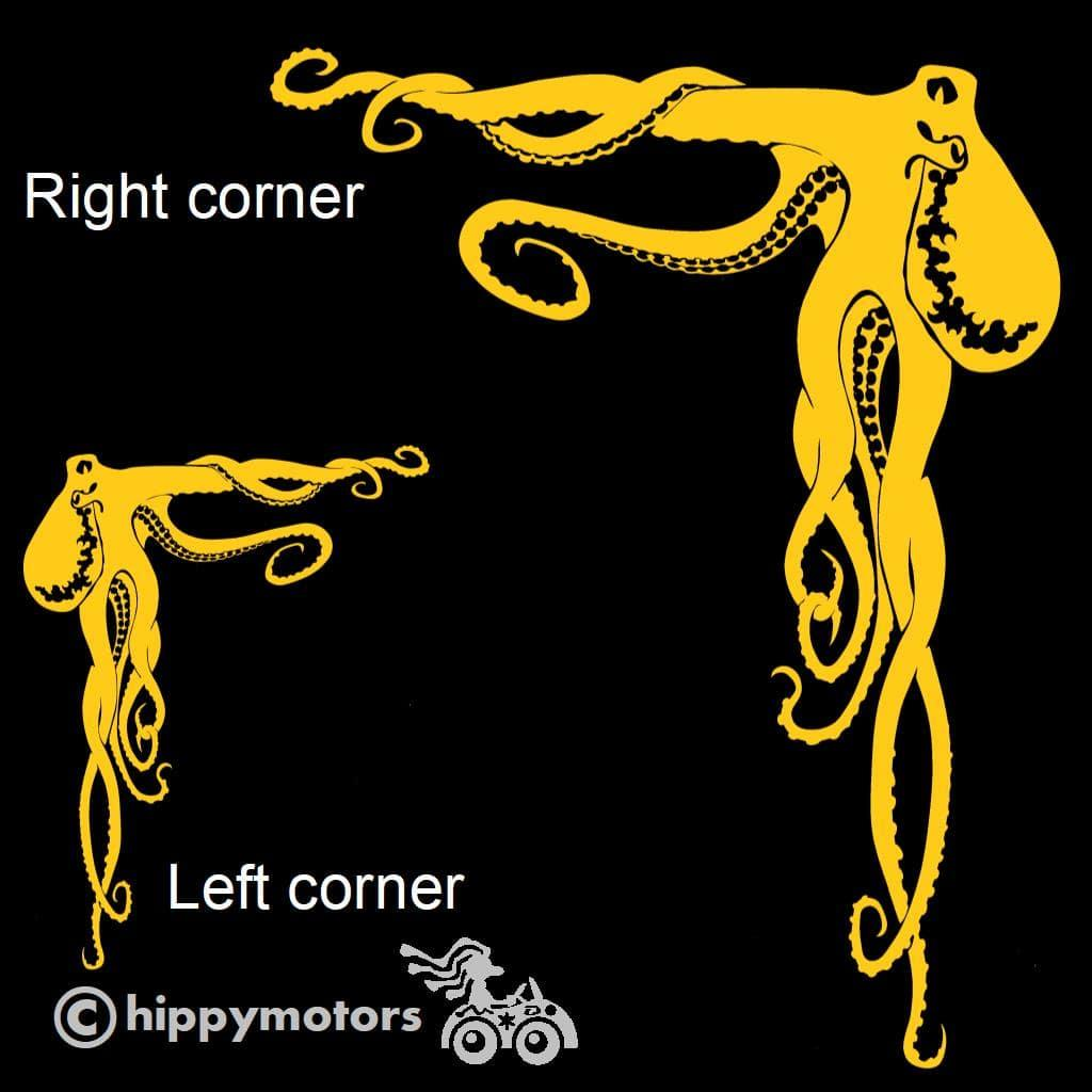 Octopus decal for corners