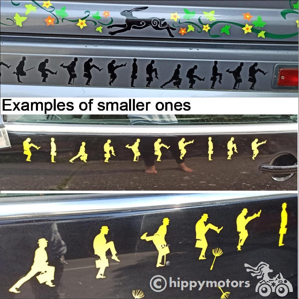 Monty Python Ministry of silly walks decals small sized