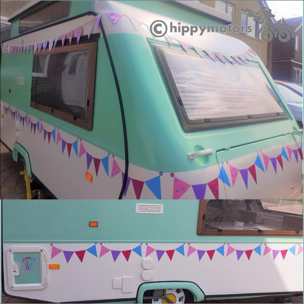 beautiful bunting caravan stickers