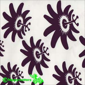 Passion flower decals