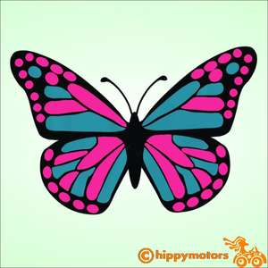 Big Butterfly vinyl decal for cars and caravans