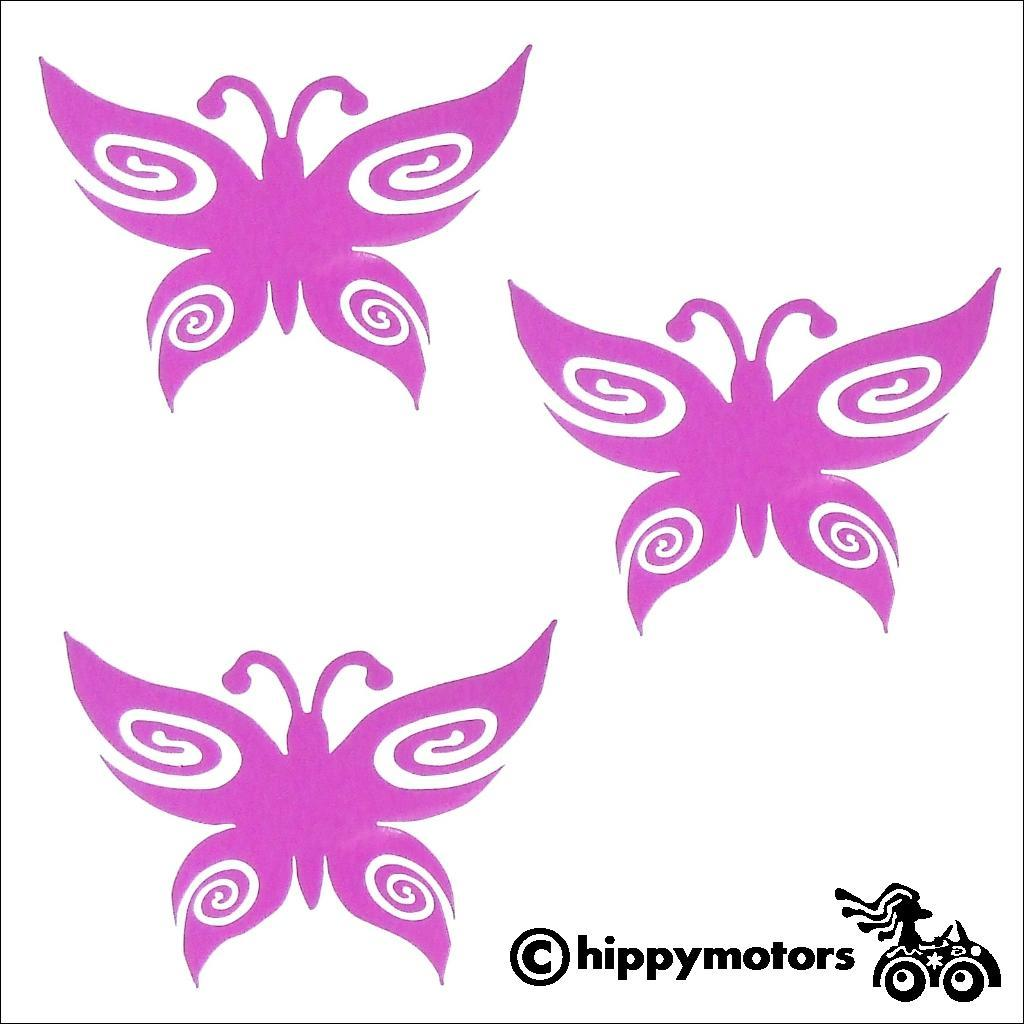 Set of three butterfly decals