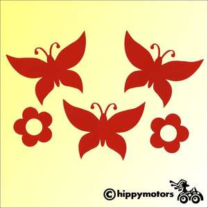Butterfly decals for cars
