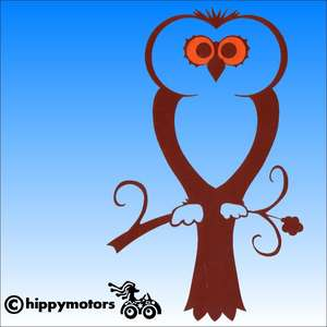 Owl decal for cars
