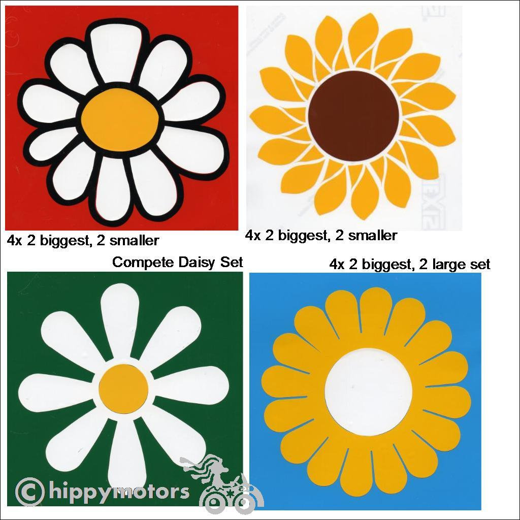 Hippy Motors vinyl flower decals