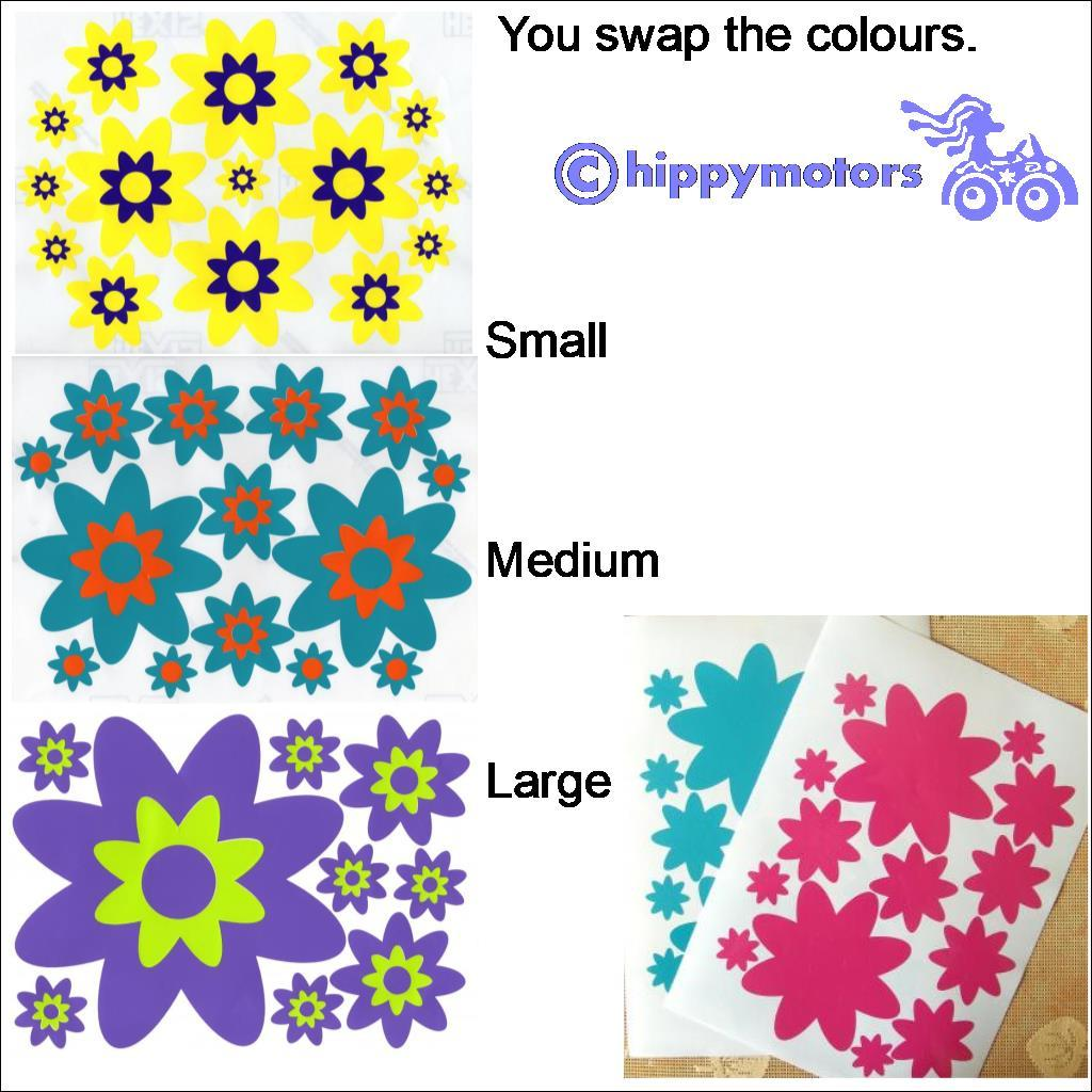 Flower decal sheets