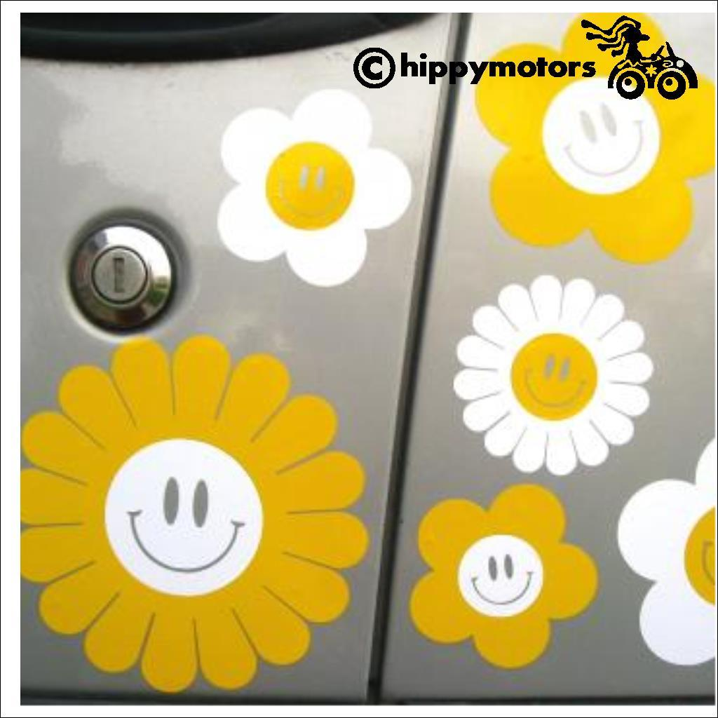 flowers with smiles for cars