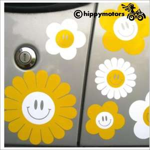 flower decals with smiles for caravans