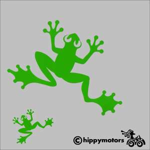 Frog car sticker