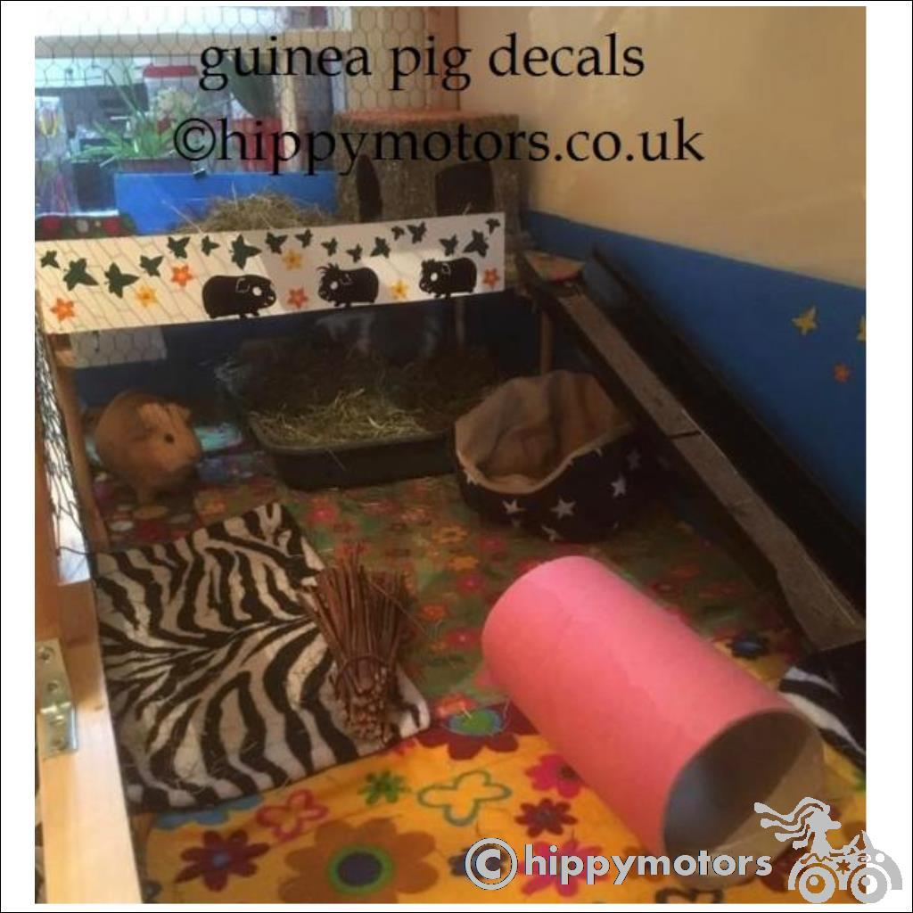 Guinea Pig decals on a pig pen