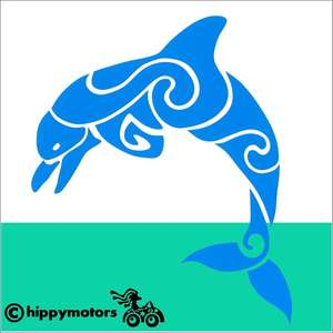 dolphin vinyl sticker for cars, caravans, kayaks, canoes