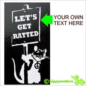customise banksy rat decal