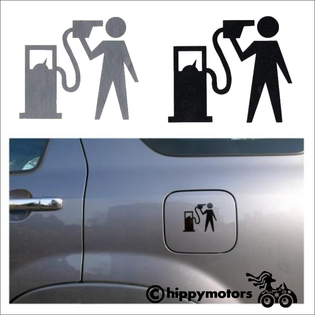 Banksy suicide gas car sticker transfer