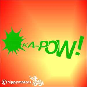 ka-pow punch super hero vinyl car sticker
