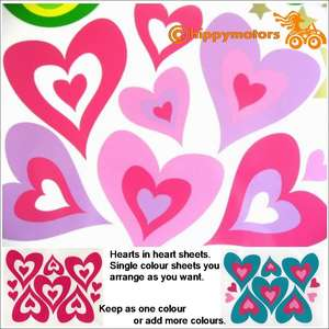 heart vinyl stickers for cars caravans and walls