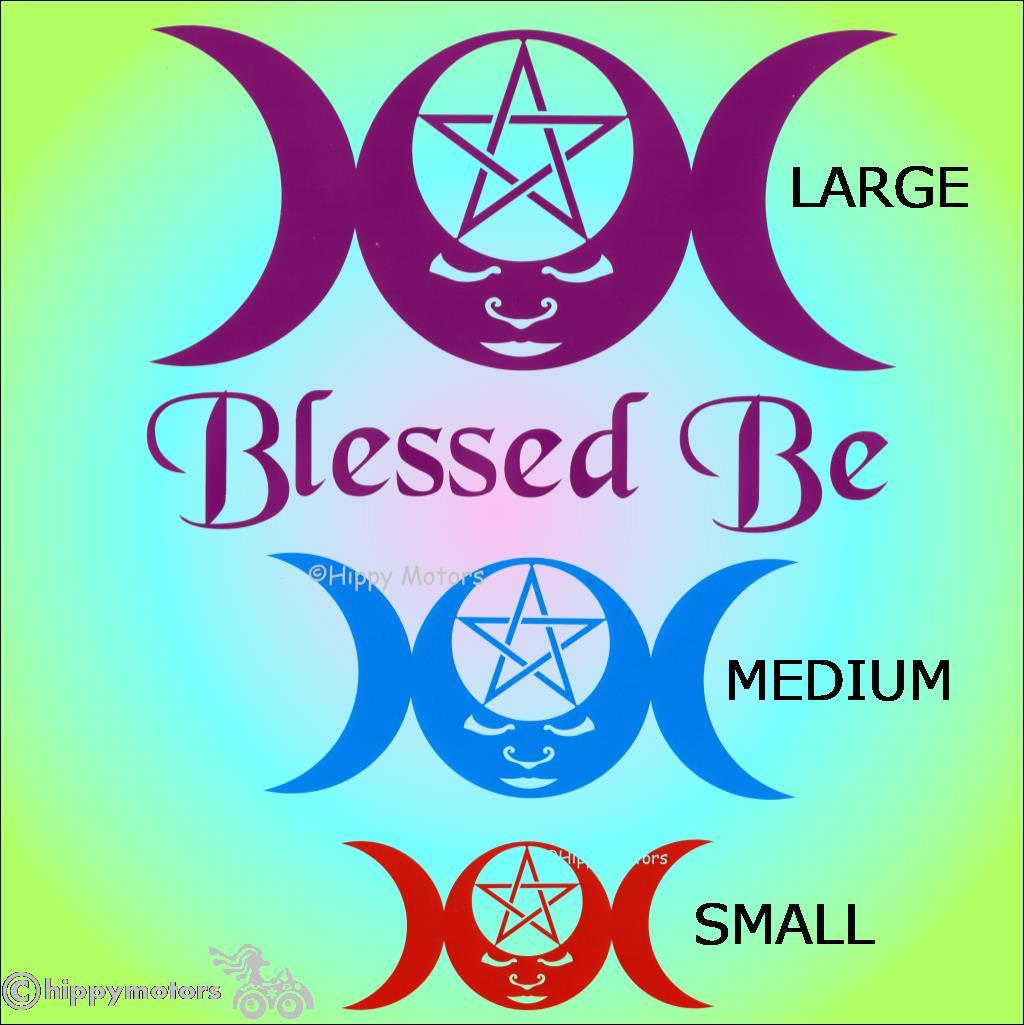 blessed be window sticker car decal caravan transfer hippy motors