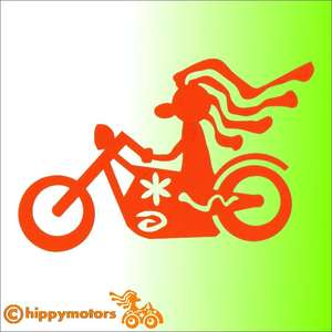 Hippy Motors Biker motorbike vinyl sticker