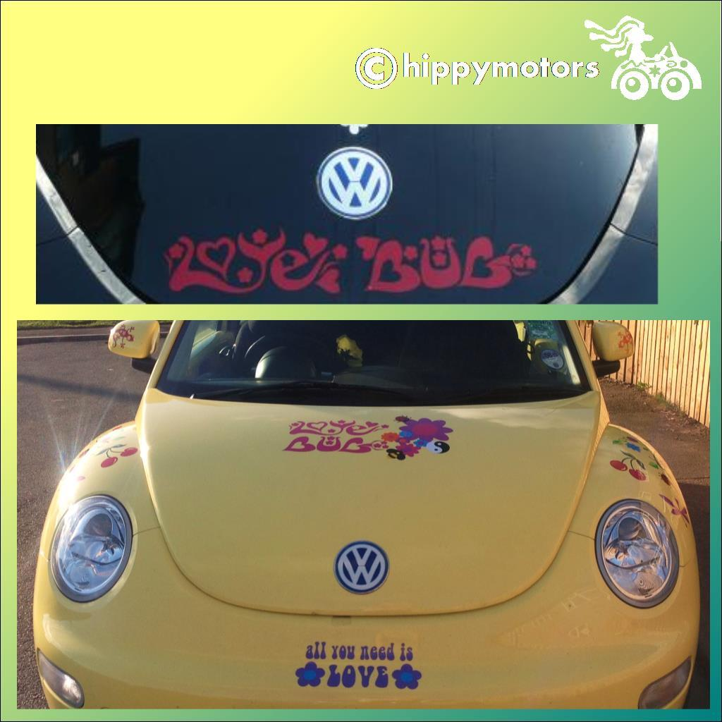 love bug vinyl window sticker for VW beetle