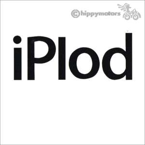 iPlod vinyl sticker decal for camper van and cars