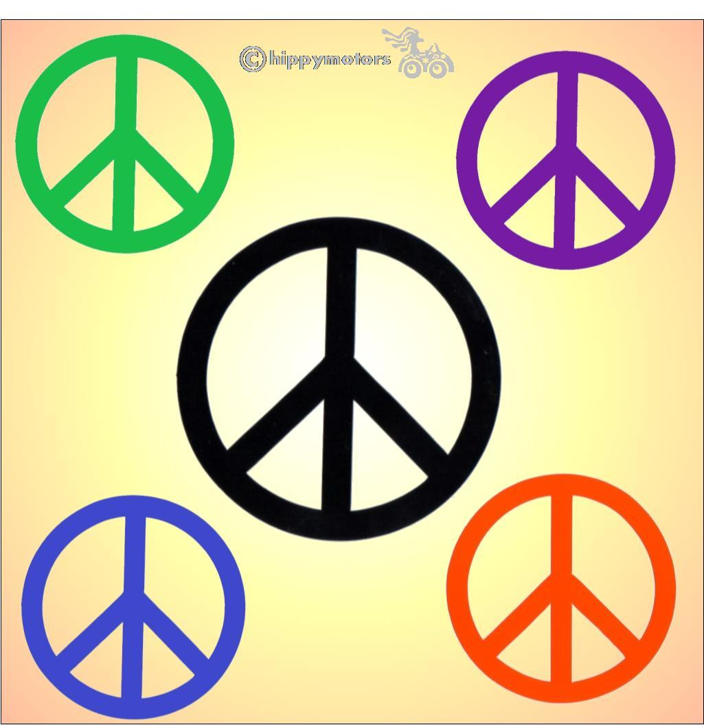 cnd peace symbol decals for vehicles and windows