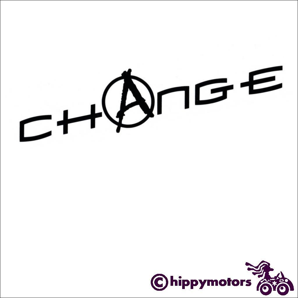 Change decal with an anarchy symbol in it