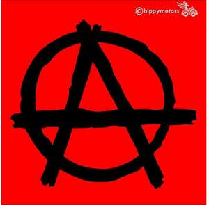 punk anarchy sticker decal for vehicles, windows and laptops