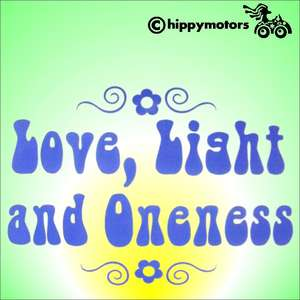 decal with love light and oneness