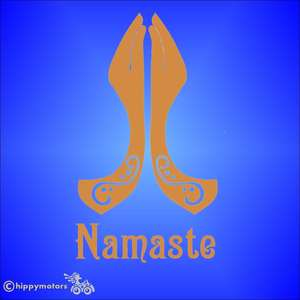 namaste yoga car sticker window transfer