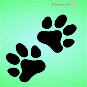 animal paw print vinyl stickers for vehicles and walls