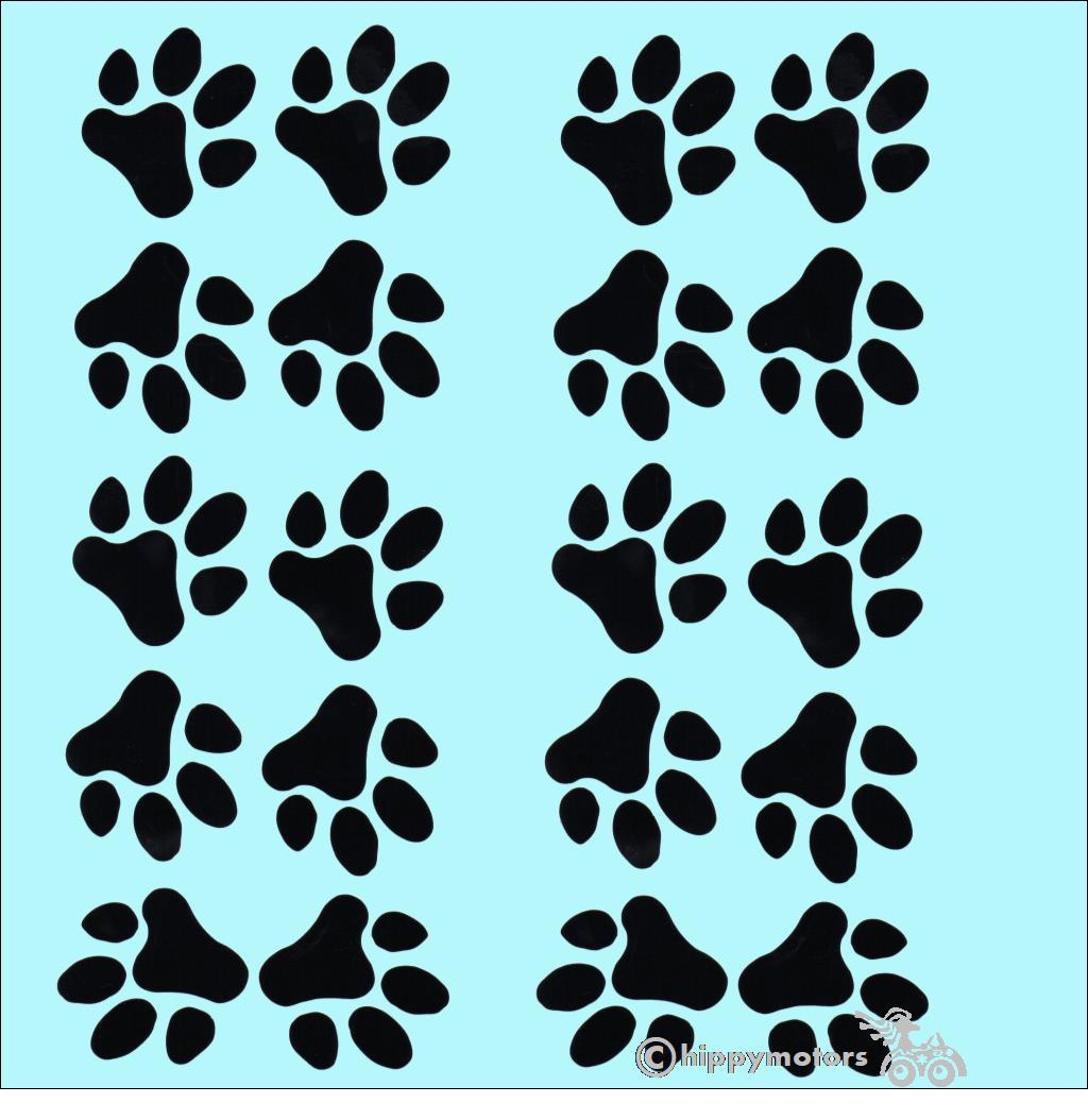 bulk buy paw print stickers decals for vehicles and windows