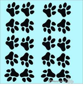bulk buy paw print decals for vehicles and windows
