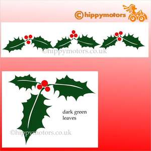 holly leaf decals