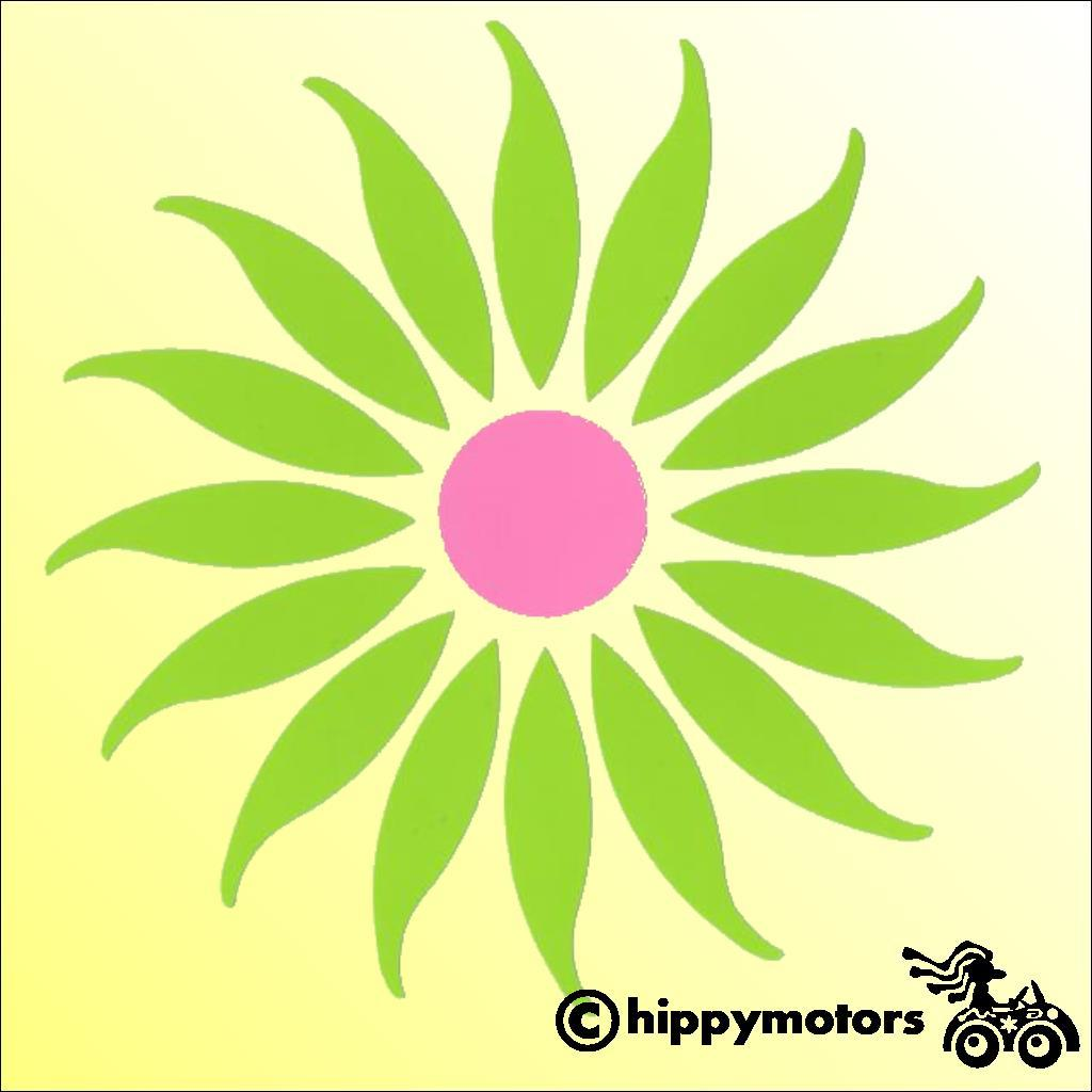 Daisy sticker decal for vehicles walls caravans