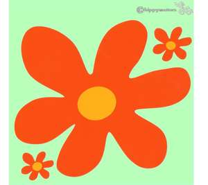 large scooby doo vinyl flower decals for camper vans cars and caravans