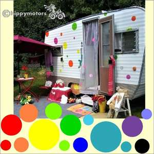 bumper pack of spot vinyl stickers transfers for caravans vehicles walls and floors