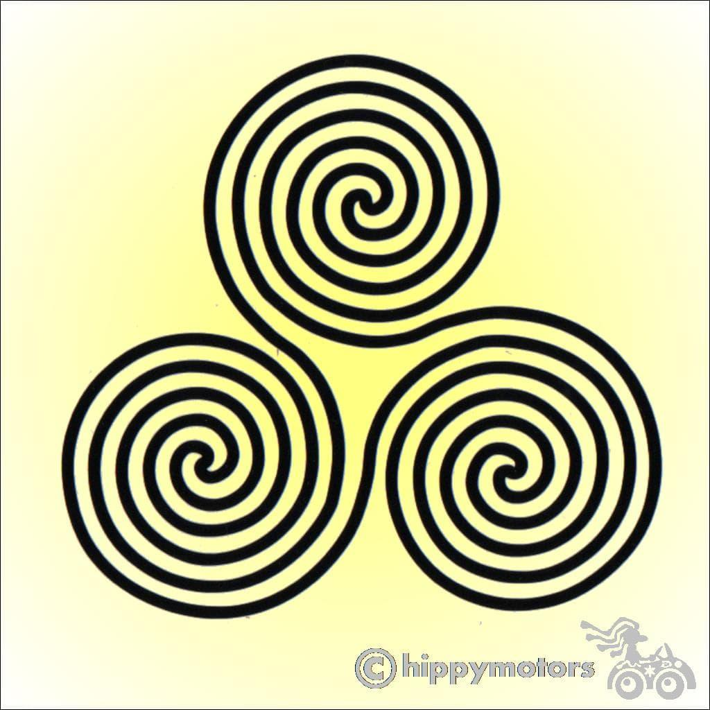 Irish style triskelion decal