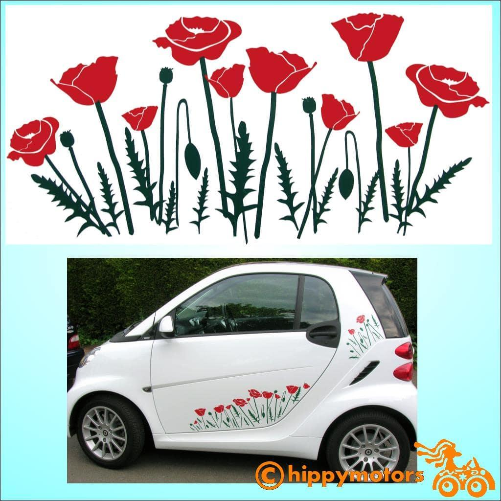 Poppy stickers by hippy motors