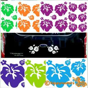 hibiscus decals for cars and camper vans by hippy motors