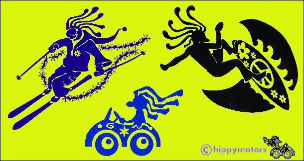 Hippy Dude Decal