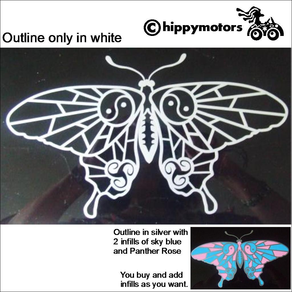 Butterfly car decal