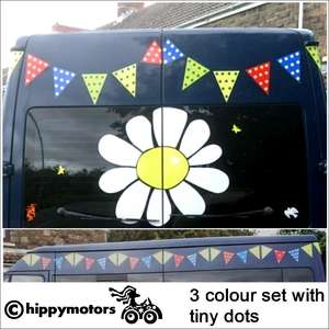 campervan bunting decals for wall, caravan, camper van
