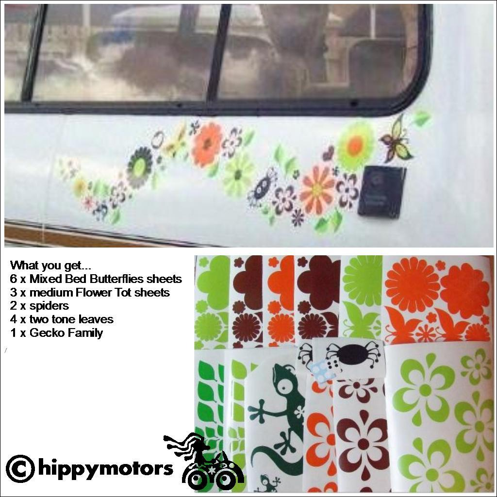 Large pack of flower decals from Hippy Motors