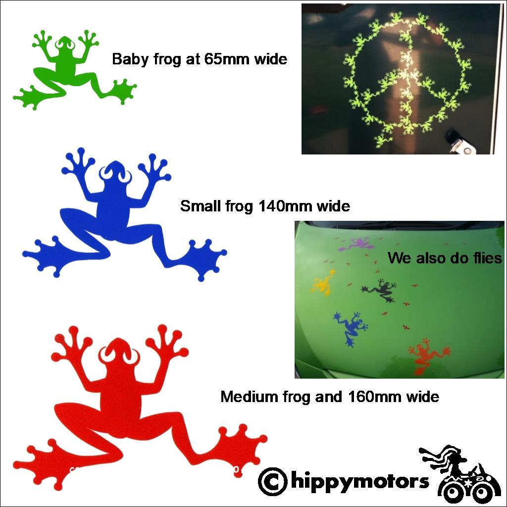 Frog car decals by Hippy Motors