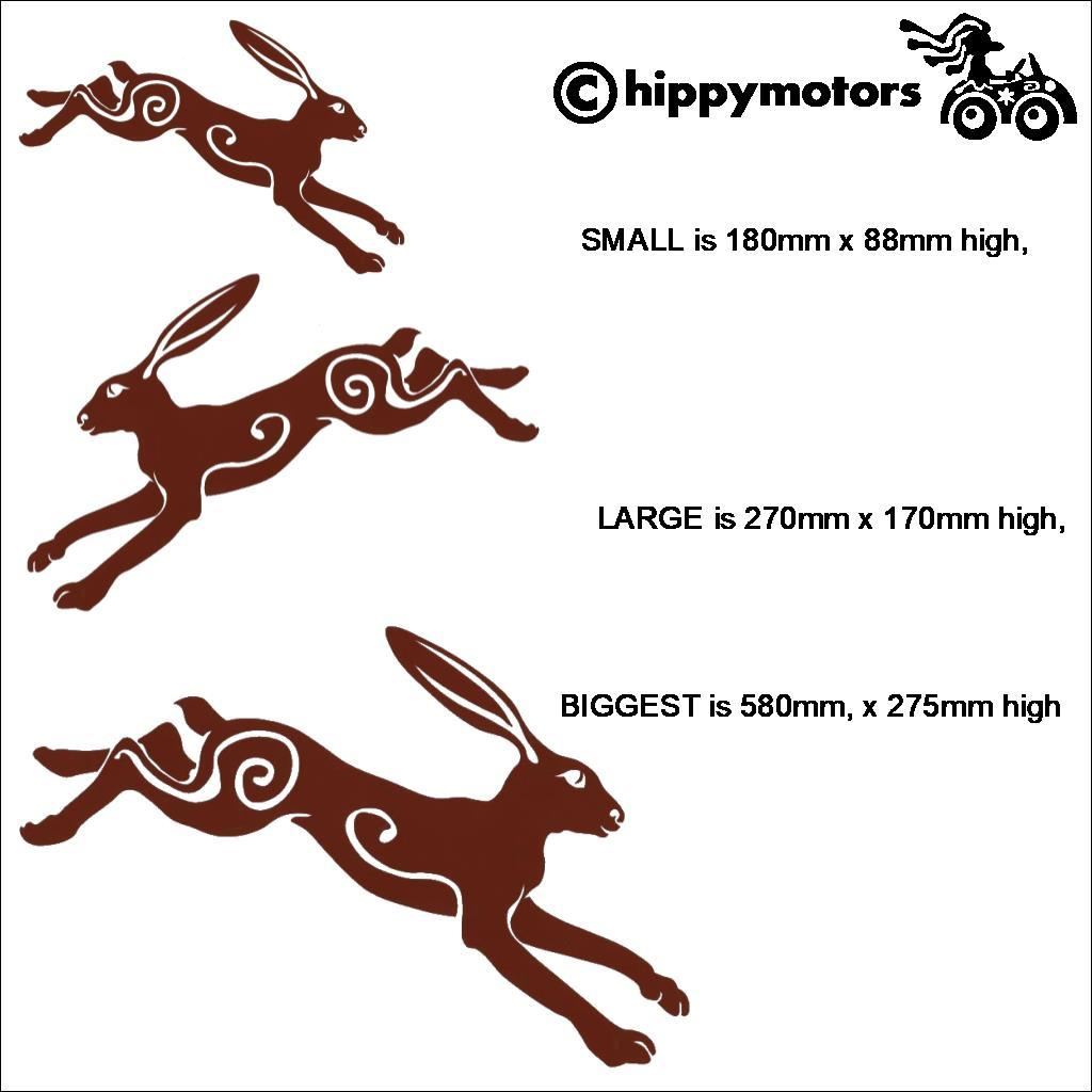 hares rabbits vehicle transfers decals hippy motors