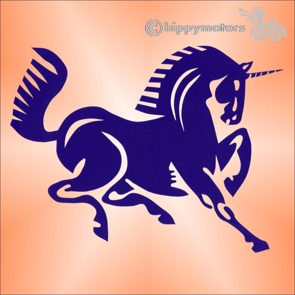 unicorn car sticker camper van decal window transfer hippy motors