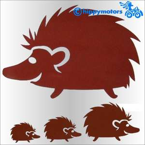 hedgehog vinyl car sticker