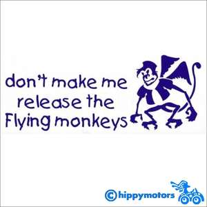 Wizard of Oz flying monkey decal
