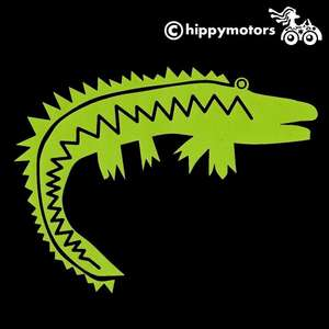 kids Crocodile caravan sticker