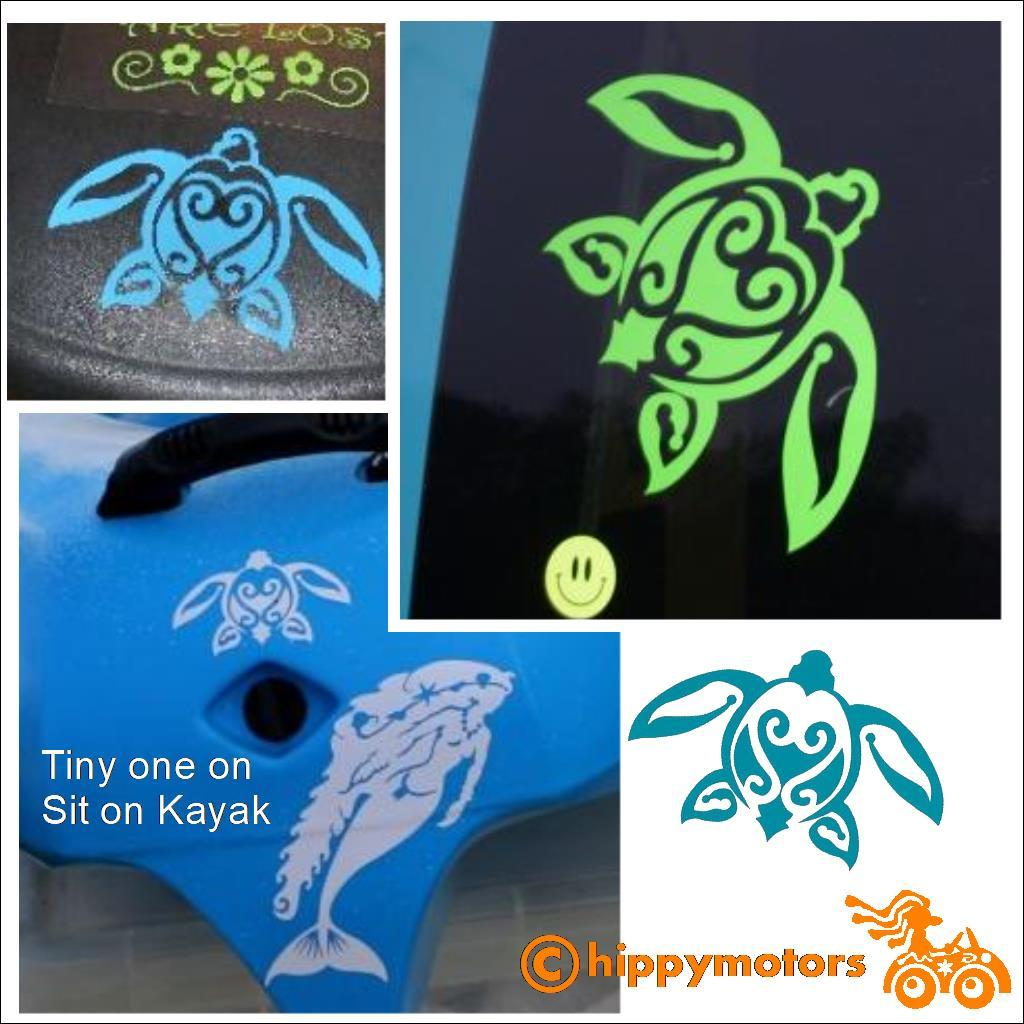 Turtle decal on cars and vans