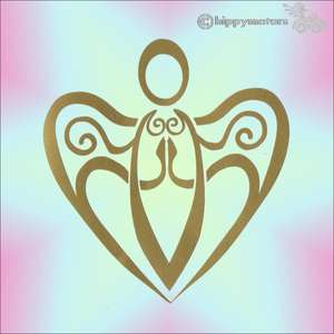 angel heart caravan sticker window decal hippy motors